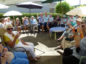 Singing Group enjoy a summer lunch party